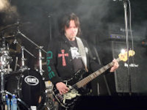 Leif Edling at Dalsjofors Folkets Park with Candlemass a few years ago